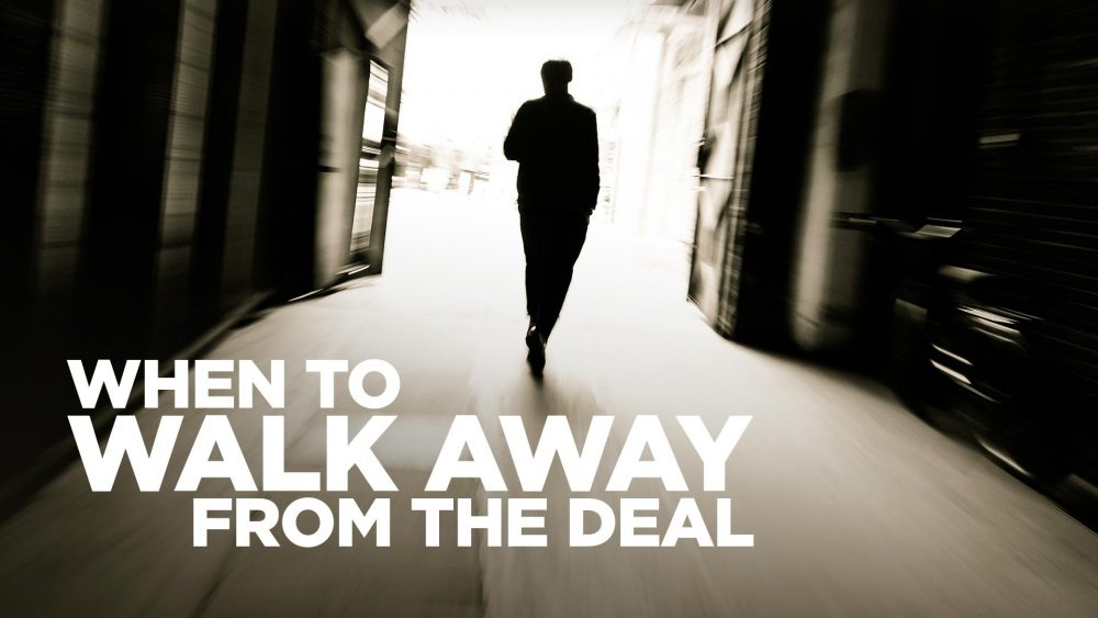 Walking away from negotiation